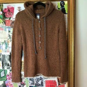 Patagonia Ranchito Wool Hoodie/Sweater Brown Sz M